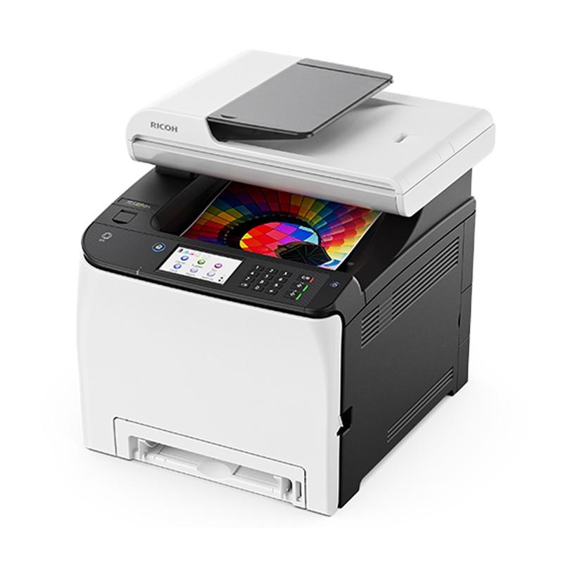 RICOH 理光 SP C261SFNw 彩色雷射中文觸控螢幕多功能事務機 印表機 影印、列印、掃描、傳真 適用 SP C250S
