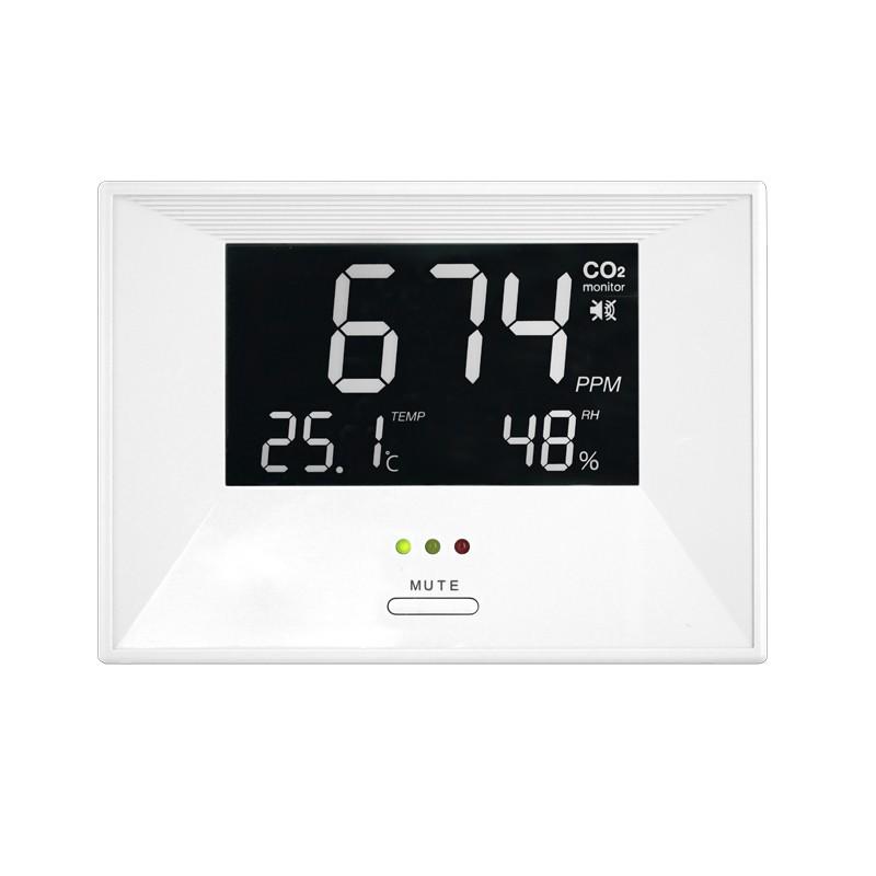 【守護您、家人與公眾的安全】ZG-1683R CO2二氧化碳偵測器|可偵測溫度、濕度