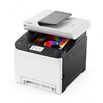 RICOH 理光 SP C261SFNw 彩色雷射中文觸控螢幕多功能事務機 印表機|影印、列印、掃描、傳真|適用 SP C250S
