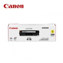Canon 佳能 CRG418 Y / CRG-418 Y 黃色原廠碳粉匣 適用MF8350Cdn / MF8360Cdn / MF8580Cdw / MF729Cdw